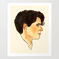 vampire weekend Art Prints featuring Ezra Koenig / Vampire Weekend by Kat Schneider