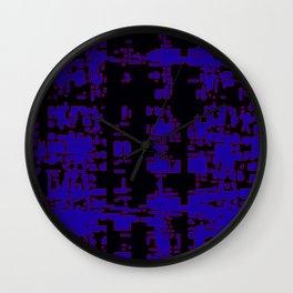 jitter, black blue, 3 Wall Clock