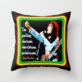 """""""WITH MUSIC: FEEL NO PAIN"""" Throw Pillow"""