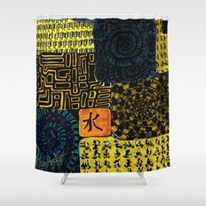 Flodsam 4 Shower Curtain
