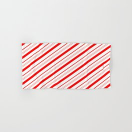 Candy Cane Stripes Hand & Bath Towel