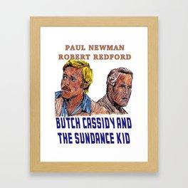 Butch Cassidy & the Sundance Kid Framed Art Print