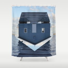 Down Under // Boatshed. Shower Curtain