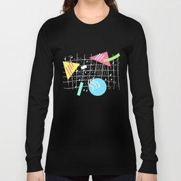 Memphis Style Vibes (Dark) Long Sleeve T-shirt