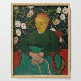 Vincent van Gogh - La Berceuse (Woman Rocking a Cradle; Augustine-Alix Pellicot Roulin, 1851–1930) Serving Tray