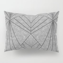 Art Deco in Black & Grey - Large Scale Pillow Sham
