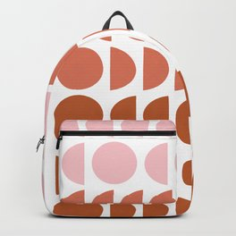 Terracotta and Blush Shapes Backpack
