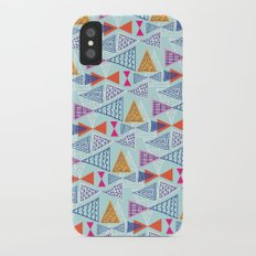 Geometric Mid Century Modern Triangles 2 iPhone X Slim Case
