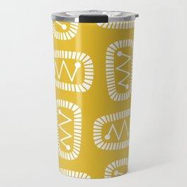 Mid Century Modern Atomic Radar Yellow Travel Mug