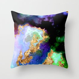 100 Starry Nebulas in Space 081 (Portrait) Throw Pillow
