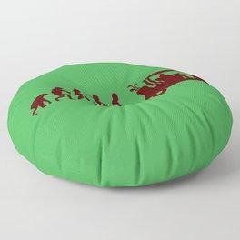 Evolution - golf Floor Pillow
