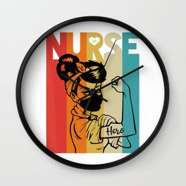 Vintage Rosie The Riveter Nurse Face Mask Edition T-Shirt Wall Clock
