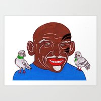 mike tyson Art Prints featuring Mike Tyson 2 by Kot Bonkers