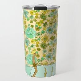 large retro flower daydreams // by surfy birdy Travel Mug