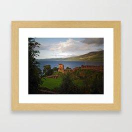 Urquhart Castle and Loch Ness Framed Art Print