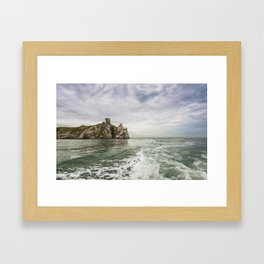 Irish cliffs in Howth Framed Art Print