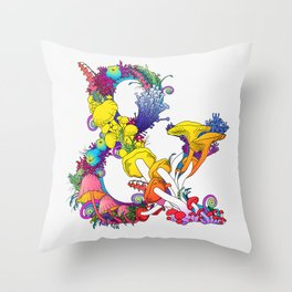 Mushroom & 2 Throw Pillow