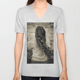 Young woman 11 Unisex V-Neck
