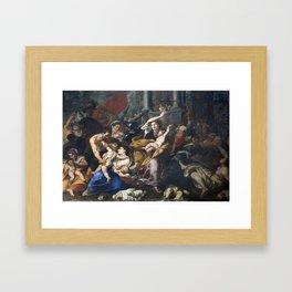 Milan - paint of Massacre of the Innocents from San Eustorgio church Framed Art Print