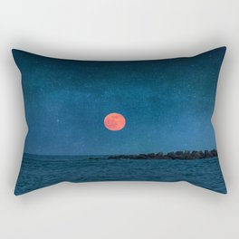Strawberry Moon Rectangular Pillow