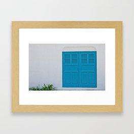 Cyan Framed Art Print