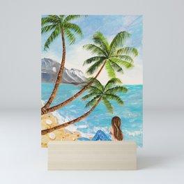 Mermaid on Beach Mini Art Print