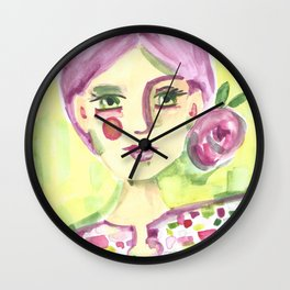 Lavender Lady Wall Clock