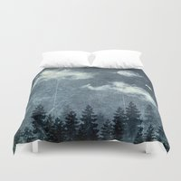 cloud Duvet Covers featuring The cloud stealers by HappyMelvin
