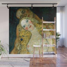 "Gustav Klimt ""Adam and Eve"" Wall Mural"