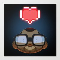 video games Canvas Prints featuring I love Video Games  by Shihab Aldeen