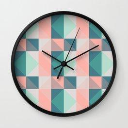 Seafoam Plaid Wall Clock