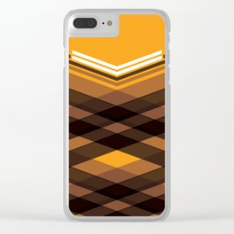 Brown Stripes Clear iPhone Case
