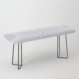 mathematical rotating roses - ice gray Bench