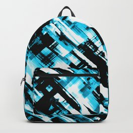 Hot blue and black digital art G253 Backpack