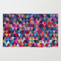 triangles Area & Throw Rugs featuring Triangles by Ornaart