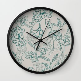 Morning Pastures Wall Clock