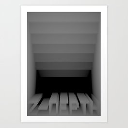 3D Z-DEPTH Art Print