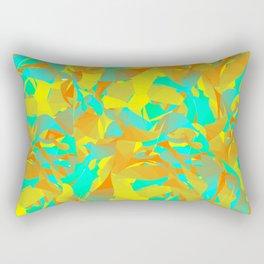 Abstract Green Pattern Rectangular Pillow