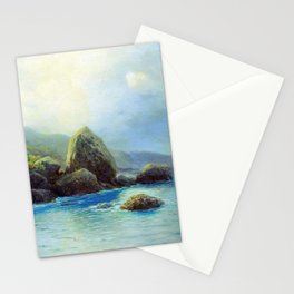 Coast Of The Sea 1899 By Lev Lagorio | Reproduction | Russian Romanticism Painter Stationery Cards
