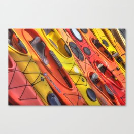 Kayak Art Canvas Print