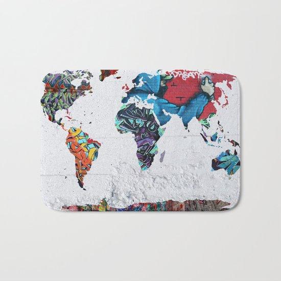 map of the world  Bath Mat