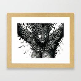Happy Harpy Framed Art Print