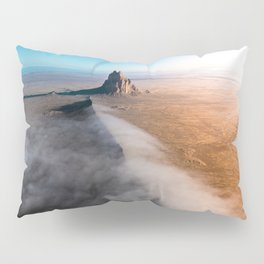 Shiprock volcanic formation in New Mexcio Pillow Sham