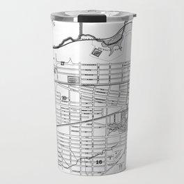 Vintage Map of Albany NY (1895) BW Travel Mug