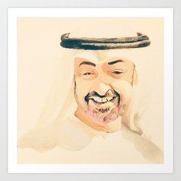 sheikh Mohammed bin zayed design art Art Print