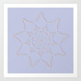 Dot Mandala Light Purple - 3D Pointilism Art Print