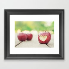 Love apple Framed Art Print