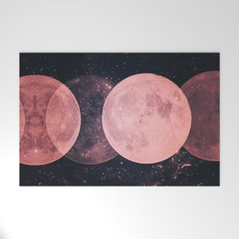 Pink Moon Phases Welcome Mat