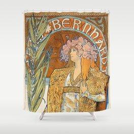 Art Nouveau poster by Alphonse Mucha Shower Curtain