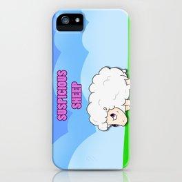 Suspicious Sheep iPhone Case